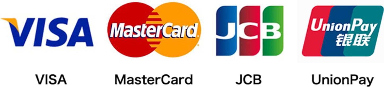VISA MasterCard JCB UnionPay